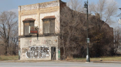 Detroit Abandoned Business 1 Stock Footage