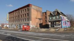 Detroit Abandoned Hotel Stock Footage