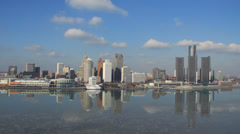Detroit Skyline Afternoon 1 - stock footage