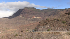 Spain - Gran Canaria - colorful mountains in the western part Stock Footage