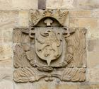 Stock Photo of coat of arms of the city of leon. spain