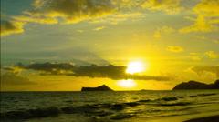 Morning Light Waimanalo Beach - stock footage