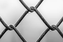 close up of a chain link - stock photo