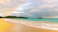 Waimanalo beach & Lanikai Stock Footage