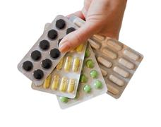 Showing a variation of tablets - stock photo