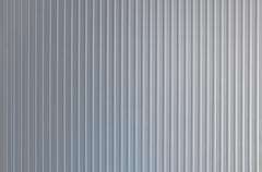 Striped silver background - stock photo