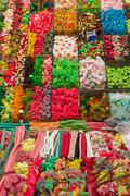Colourful candies on a market Stock Photos