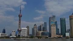 Panoramic of  Shanghai China,Lujiazui economic Center. Stock Footage