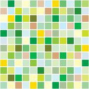 Stock Illustration of springtime mosaic pattern