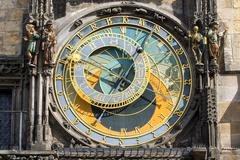 The famous astronomical clock - stock photo