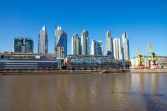Buildings in Puerto Madero Stock Photos