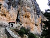 Stock Photo of rock monastery, korinthos, greece