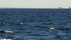 Choppy waves in Tampa Bay Stock Footage