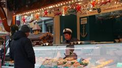 Berlin street market Stock Footage