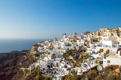 Oia on Santorini island Stock Photos