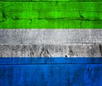 Stock Illustration of sierra leone flag on wood