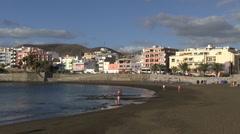 Spain - Gran Canaria - Arguineguin beach Stock Footage
