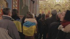 KIEV,UKRAINE - 30 NOVEMBER 2013 Peaceful strike turned into the revolution.  Pro Stock Footage