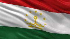 Flag of Tajikistan - stock illustration