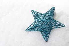 christmas, christmas ornament turquoise - stock photo