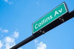 collins avenue - stock photo