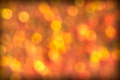 beautiful red golden bokeh background - stock illustration