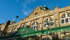 Royal Hall Theatre in Harrogate timelapse Stock Footage