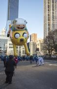 Jake and Finn, from adventure time, in 2013 Macy's Parade Stock Photos