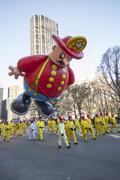Fire department balloon in 2013 Macy's Parade Stock Photos
