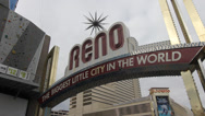Stock Video Footage of Reno Sign Time Lapse