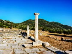Ancient messini ruins, messinia, greece Stock Photos