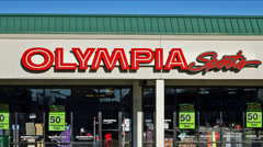 Olympia Sports storefront zoom out - stock footage