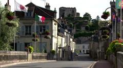 Montoire-sur-le-Loir (4) France Stock Footage