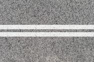 Stock Photo of road markings