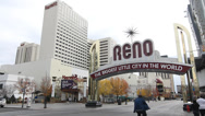 Stock Video Footage of Reno Sign
