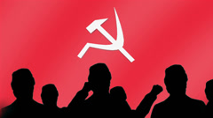 Communist uprising salute Stock Footage