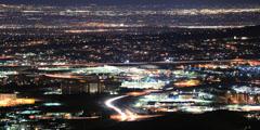 Denver Metro Area at Night - Colorado USA Timelapse - stock footage