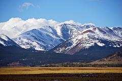 snowy colorado mountains - stock photo