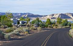 large rv park in northern arizona - stock photo