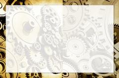 Machinery background with light-up copy space Stock Illustration