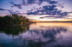 Sunset at lake wylie Stock Photos