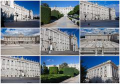 Royal Palace in Madrid Stock Illustration