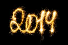 2014 made a sparkler - stock illustration