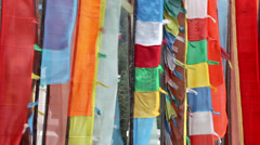 Buddhist Prayer Flags - stock footage