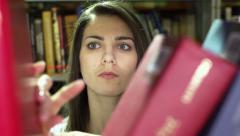 Looking For Book Stock Footage