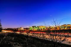 Evening commute traffic near steele creek charlotte north carolina Stock Photos