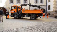 Public Works Regensburg Stock Footage
