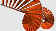 Stock Illustration of 3d spiral staircase