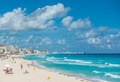 Cancúnin rannalle panoraama, Meksiko Kuvituskuvat