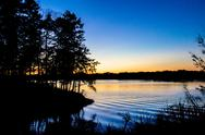 Stock Photo of sunset at lake wylie